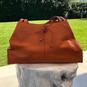 Tods structured orange bag